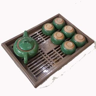 [freeship mua 2] Khay trà vuông giả gỗ KT32 22 4- Sang trọng lịch sự - KTVVNN thumbnail