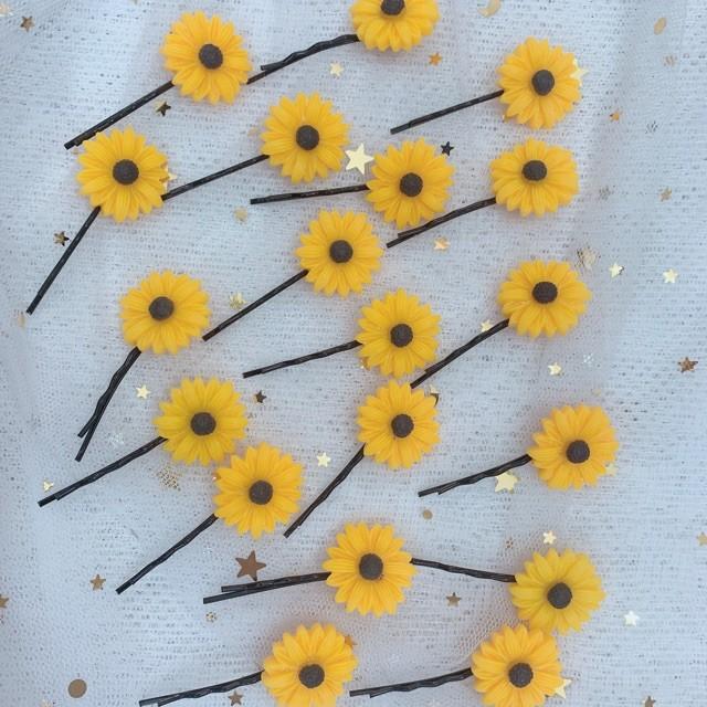 Kẹp tóc hoa cúc xinh xắn - keptoc 4
