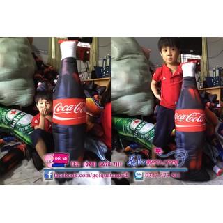 gối ôm chai coca cho bé cưng gối ôm ngủ gối ôm 3d an toàn gối ôm coca 100cm - COCA-100 thumbnail