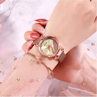 Đồng Hồ Nữ Đồng hồ thời trang - Dây Lưới Nam Châm - DHT012 - DHT012 thumbnail
