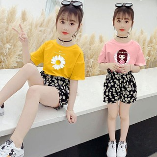 Set bộ quần áo trẻ em mùa hè mẫu Hoa cúc, Công chúa, Tom Jerry dành cho bé gái 16-45kg - Set Bộ thumbnail