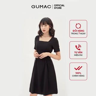 Đầm nữ tay ngắn xòe nhẹ - Đầm nữ cổ U đan eo GUMAC DB305 - DB305 thumbnail