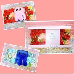 Hộp quà 8/3 hoa hồng sáp thơm & gấu bông bạch tuộc cảm xúc