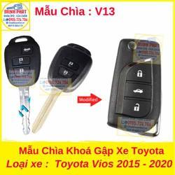 Chìa Khoá Gập xe Toyota Vios 2015 đến 2020 mẫu v13