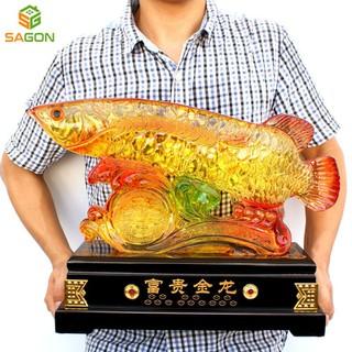 Tượng phong thủy Cá rồng mang điềm lành, tài lộc và thịnh vượng cho gia chủ CR4634 - CR4634 thumbnail