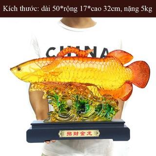 Tượng Cá rồng phong thủy độc đáo giữ lộc, giữ tiền tài cho gia chủ CR4332 - CR4332 thumbnail