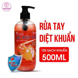 Gel rửa tay Avatar diệt khuẩn hương Cherry 500ml - Sản phẩm cho cả gia đình cùng bảo vệ sức khỏe trong mùa dịch - Mua 3 tặng 1 chai cùng dung tích - CHERRY-500ml thumbnail