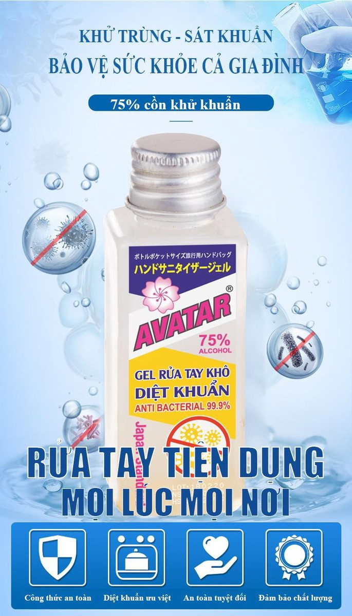 Nước rửa tay khô diệt khuẩn Avatar 75% cồn 40ml - Diệt khuẩn tối đa, Đảm bảo chất lượng - RUATAY-40ml 2