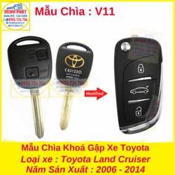 Chìa Khoá Gập xe Toyota Land Cruiser mẫu v11