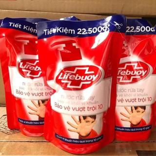 Nước Rửa Tay Lifebouy đỏ bảo vệ khỏi vi khuẩn 450g Túi - NRTLB thumbnail