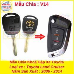 Chìa Khoá Gập xe Toyota Land Cruiser mẫu v14