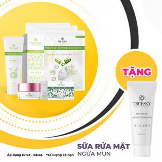 [chính hãng] Bộ sản phẩm làm mờ nám da mặt Truesky gồm 1 kem nám da 15g và 1 sữa rửa mặt nha đam 60ml + 3 miếng mặt nạ dưỡng da Truesky - bov5 thumbnail