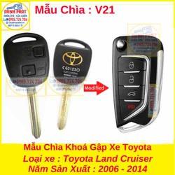 Chìa Khoá Gập xe Toyota Land Cruiser mẫu v21