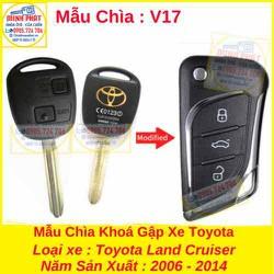 Chìa Khoá Gập xe Toyota Land Cruiser mẫu v17