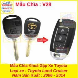 Chìa Khoá Gập xe Toyota Land Cruiser mẫu v28