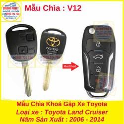 Chìa Khoá Gập xe Toyota Land Cruiser mẫu v12
