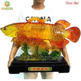 Tượng Cá rồng nhựa tổng hợp phong thủy phát lộc bình an, đem lại sự giàu có cho gia chủ - CR4350 thumbnail