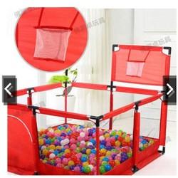 Nhà bóng cho bé, Quây bóng lều chơi bóng cho bé khung inox hình vuông(M250)