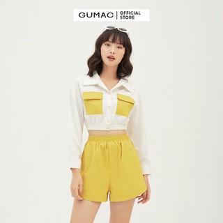 Quần short nữ lưng thun GUMAC QB3126 - QB3126 thumbnail