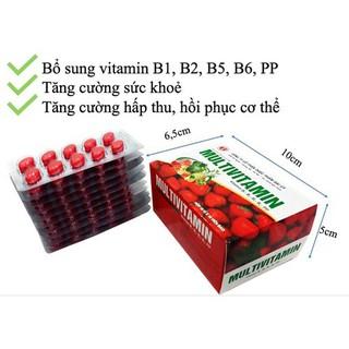 Multivitamin Đại Uy - Giúp bổ sung Vitamin B1, B2, B5,B6,PP, tăng cường bồi bổ sức khỏe - hộp 100 viên thumbnail