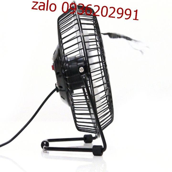 Quạt lồng sắt để bàn làm việc size lớn - Quạt size lớn có thể cắm sạc điện - Quạt mini có thể cắm sạc điện386 3