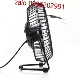 Quạt lồng sắt để bàn làm việc size lớn - Quạt size lớn có thể cắm sạc điện - Quạt mini có thể cắm sạc điện386 6