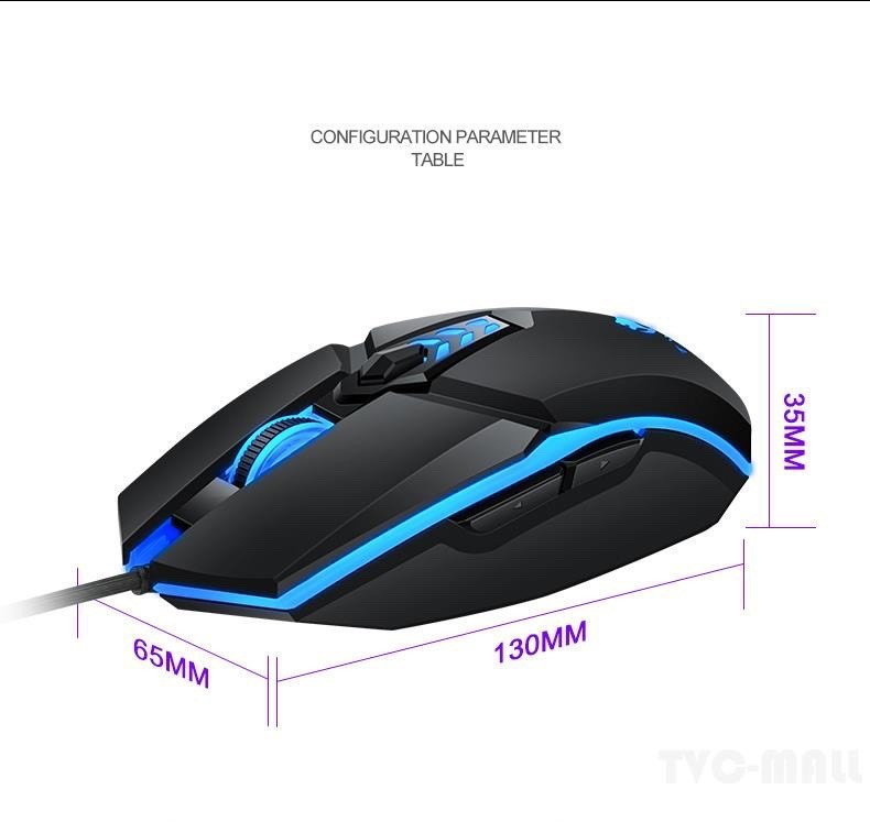 Chuột Gaming T-Wolf G510 Có Dây 4 Nút Bấm DPI 800-3200 Cho Laptop Pc - G510 1