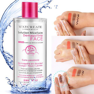 Nước tẩy trang MayCreate tẩy sạch các chất bẩn, bã nhờn sâu trong lỗ chân lông cùng lớp trang điểm trên da, giúp làn da luôn sạch thoáng, mịn màng, không gây khô da - [Nội Địa Trung] 300ml - MAYCREATE thumbnail
