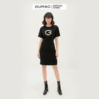 Váy nữ suông phối đai lưng form ôm cách điệu GUMAC VB390 - VB390 thumbnail