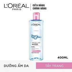 Nước Tẩy Trang Tươi Mát 3 In 1 Cho Da Dầu L'Oreal Micellar Water 3-in-1 Refreshing