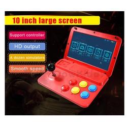 Máy chơi game Powkiddy A13 - điện tử thùng mini 10.1 inch - chạy Retro Arch chơi 11 hệ máy - tặng thẻ 32GB chép full game và 2 tay cầm phụ