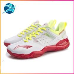 Giày Cầu Lông Liniing Cho Nữ AYZR002-1 màu trắng đế kếp chống trơn trượt bảo hành 12 tháng-giày bóng chuyền-giày thể thao