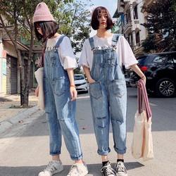 [CÓ TRỢ SHIP_CHẤT LƯỢNG] Quần yếm jean lửng YL01 phom rộng, chất vải dày, trẻ trung, năng động