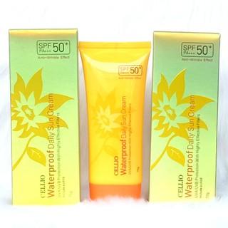 Kem chống nắng Cellio Waterproof Daily Sun Cream SPF 50 PA+++, dành cho mọi loại da - Kem chống nắng Cellio Vàng thumbnail