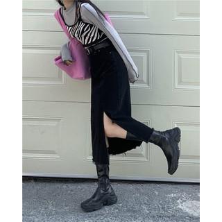 Chân váy denim midi dáng bút chì xẻ tà phong cách Hàn Quốc, chân váy jean, chân váy dài - CV007 thumbnail