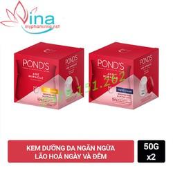 Combo kem ponds chống lão hoá ngày và đêm mẫu mới