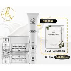 Kn Beauty - Combo face chuyên về nám gồm kem face, serrum, sữa rửa mặt Mẫu mới tặng nước hoa hoặc son hoặc 2 mặt nạ