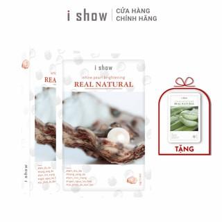 [TẶNG MẶT NẠ] Combo 2 Hộp(10 Miếng) Mặt Nạ Ngọc Trai Dưỡng Trắng Da Hàn Quốc ishow Pearl Brightening - CB-NT thumbnail