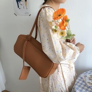 Túi tote chữ nhật dài da PU trơn màu đơn giản phong cách ulzzang Hàn Quốc - TX066 thumbnail