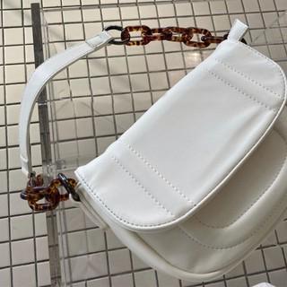 Túi xách bì thư đeo vai đơn giản phong cách Hàn Quốc quai phối xích nhựa màu hổ phách - TX003 thumbnail