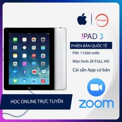 iPad 3 Quốc tế tặng bao da cáp sạc bảo hành 6 tháng 1 đổi 1 tại nhà trong 30 ngày màn hình FULL HD cực nét