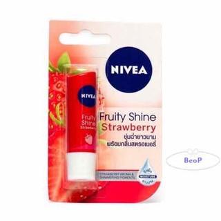 Son Dưỡng Ẩm Môi (Có Màu) Mùi Dâu NIVEA Fruity Shine Strawberry 4,8g (Thái Lan) Chính Hãng - Son Dưỡng Ẩm Môi (Có Màu) Mùi Dâu NIVEA Fruit thumbnail