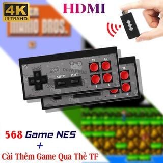 Máy Chơi Game HDMI Y2 4K Tích Hợp 568 Trò Chơi, Tay Cầm Không Dây Có Thể Cài Thêm Game Qua Thẻ Nhớ - Hãy Cùng bạn Bè Hoặc Người Thân Có Trải Nghiệm Tuyệt Vời Nhất Với Các Tựa Game Huyền Thoại Như Contra, Mario,Boom, .... - MCG Y24K 568 thumbnail