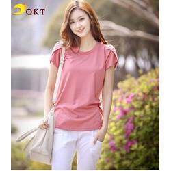 Áo thun nữ QKT thiết kế tay búp sen A16