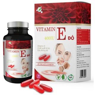 Viên Uống Đẹp Da Vitamin E Đỏ- Chiết Xuất TInh Dầu THông Đỏ, dầu hoa anh thảo, dầu hạnh nhân, giúp chống oxy hóa, Giảm nếp nhăn, mờ thâm nám - Vitamin E thông đỏ thumbnail