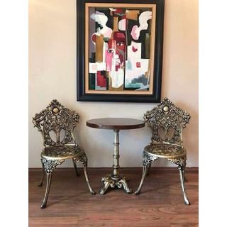 Bộ bàn ghế nhôm đúc nghệ thuật cao cấp - ND2 thumbnail