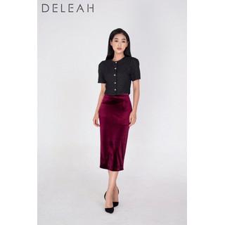 DE LEAH - Chân Váy Midi Bút Chì - Thời trang thiết kế - Z2004125Do thumbnail