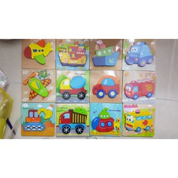 Đồ chơi xếp hình tranh ghép gỗ 3D nhiều hình ngộ nghĩnh – Phát triển trí tuệ cho bé từ 2 4 tuổi