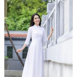 [KHÔNG MỎNG] Bộ áo dài trắng học sinh lụa tằm cao cấp