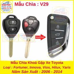 Chìa Khoá Gập xe Toyota Innova, Fortuner, Vios, Hilux, Yaris, Altis